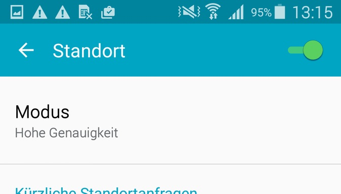 Standortdienste (ab Android 5.0)