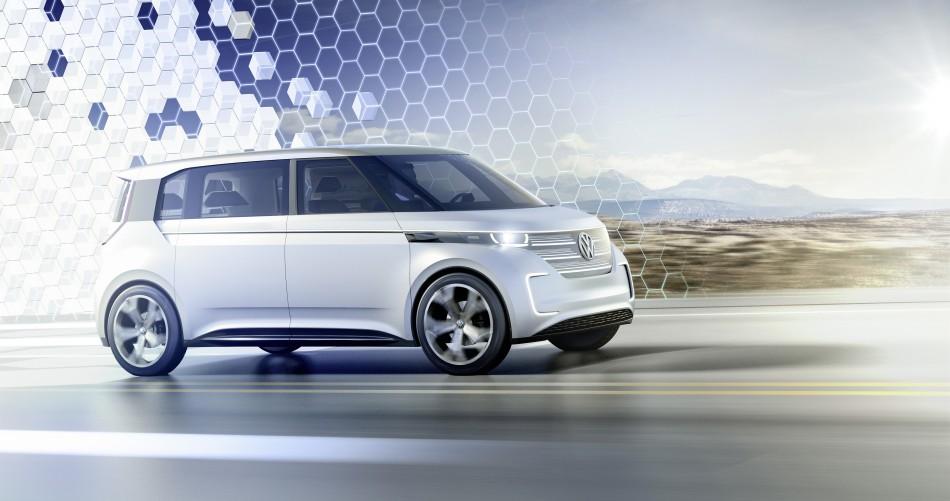 Auf der CES in Las Vegas hat VW ein neues Konzept zu einem elektrisch fahrenden Bulli gezeigt. | Foto: Volkswagen | <a