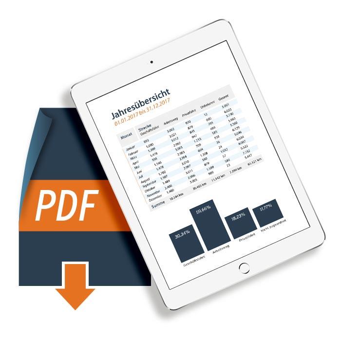 Fahrtenbuch als PDF exportieren